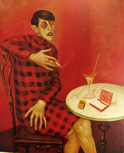 remake of otto dix portrait of SYLVIA VON HARDEN