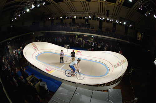 Red Bull Mini Drome Vancouver Velodrome fixed gear cycling contest