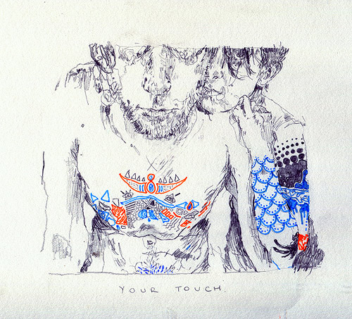 Drawings by artist Michael Verita