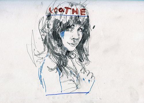Drawings by artist Michael Verita