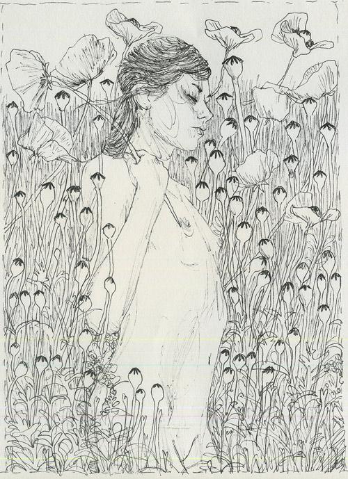 Drawings by artist Moni Lewandowski