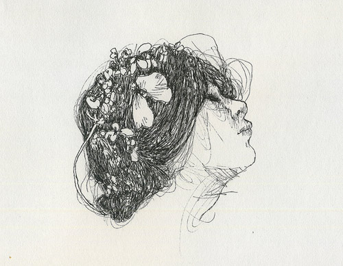 Drawings by artist Moni Lewandowski