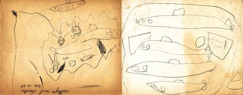 Homeroom show at Subtext Gallery - reinterpreting childhood drawings