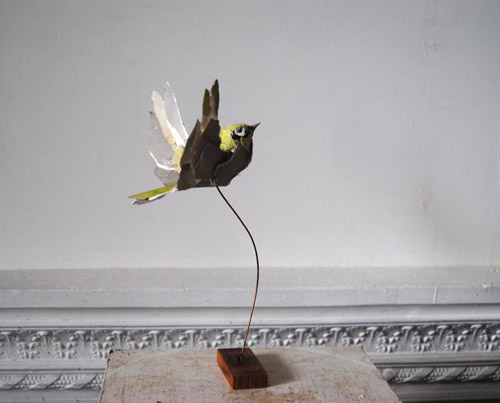 Paper sculptures by artist Anna-Wili Highfield