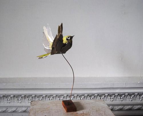 Paper sculptures by artist Anna-Wili Highfield