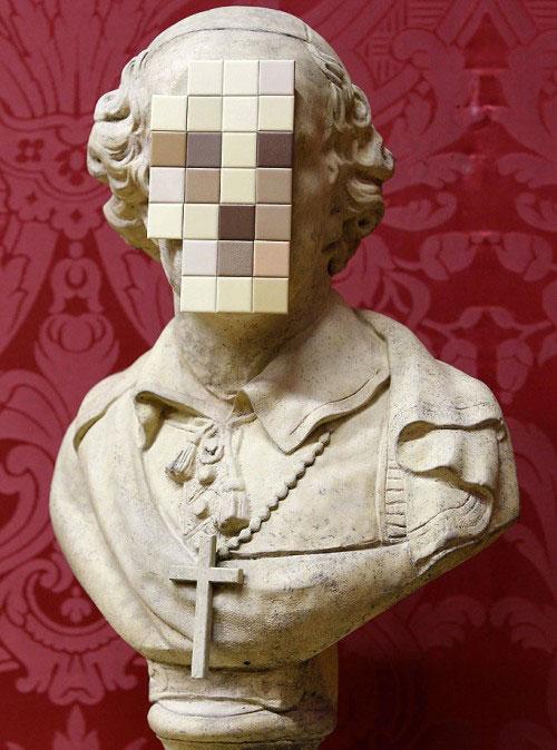 Banksy cardinal sin sculpture