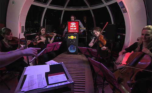 Deviation String Quartet Benji B, MC Judah Revolutions In Sound on the London Eye
