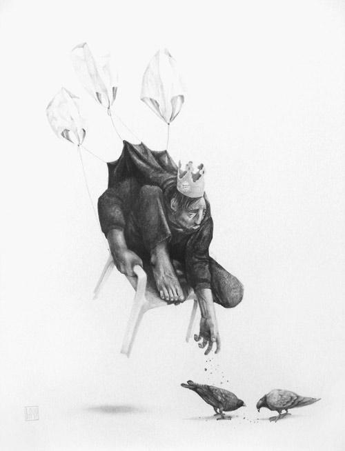 Drawings by artist Eduardo Flores aka Bayo