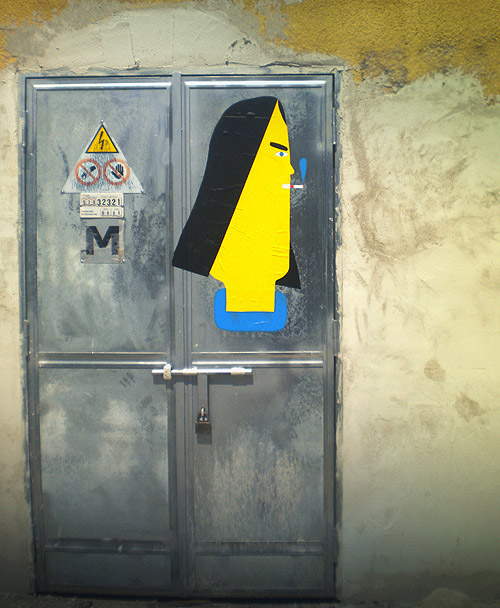 Street faces artist Geometric bang