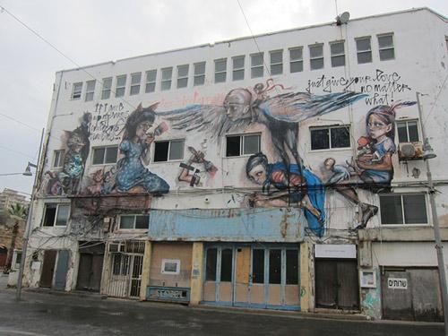 Herakut Israel street painting mural