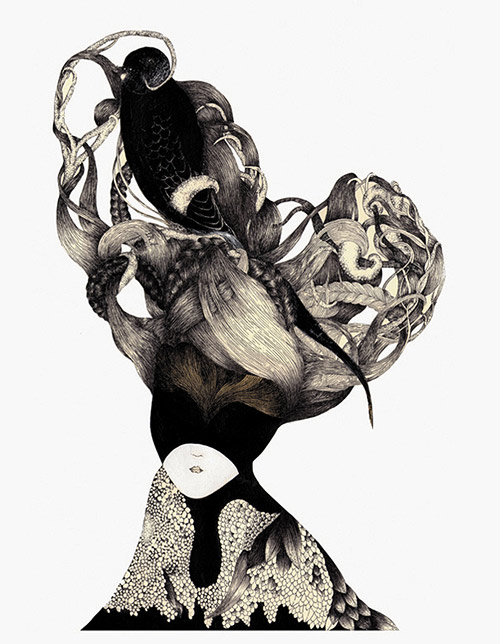 Drawings by artist Melissa Murillo meyoko
