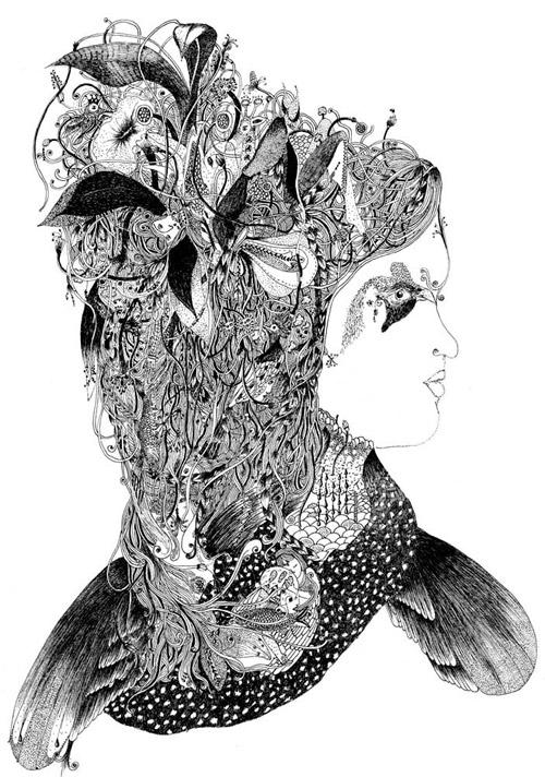 Drawings by artist Melissa Murillo meyoko