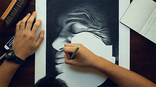 Hero a drawing by miguel endara 3.2 million dots