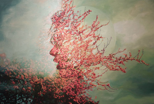 Artist painter Pakayla Biehn paintings double exposures