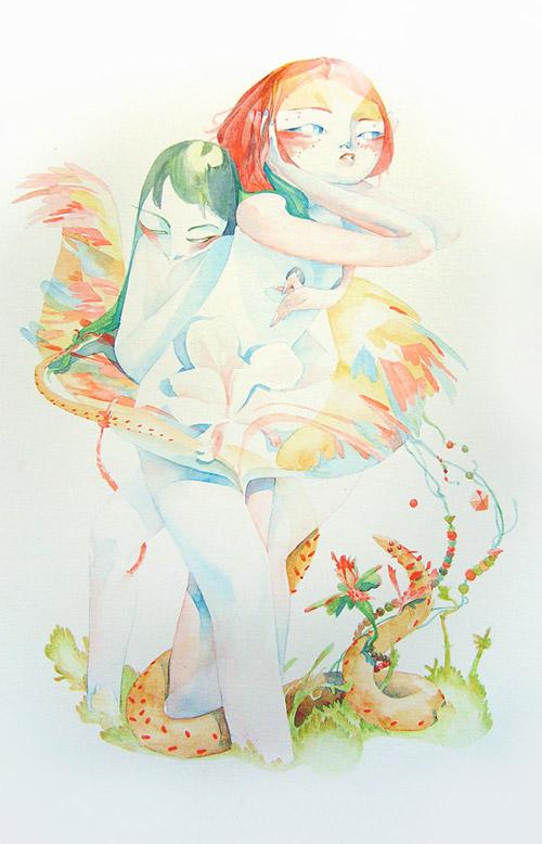 Artist illustrator Veronique Meignaud