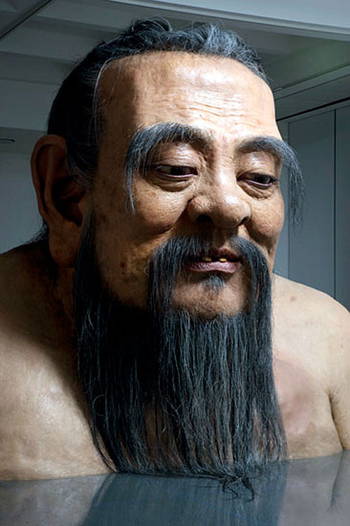 Sculptures by artist Zhang Huan