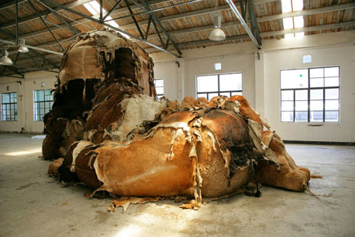Sculptures by artist Zhang Huan