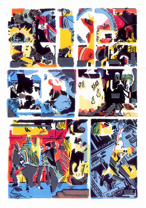 Artist screenprints John David Deardourff