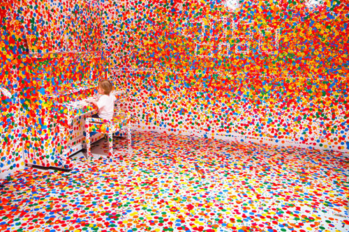 The Obliteration Room by artist Yayoi Kusama