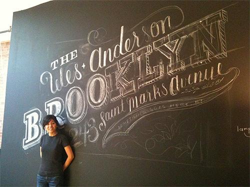 Chalk Lettering by graphic designer Dana Tanamachi