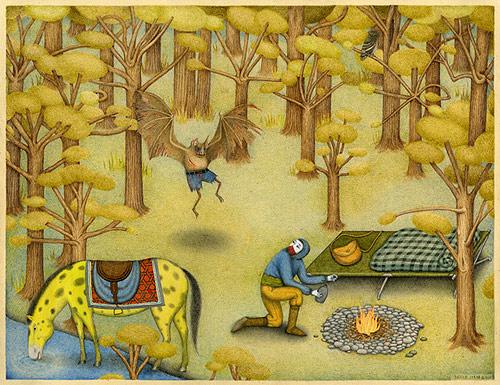 Drawings by artist David Jien
