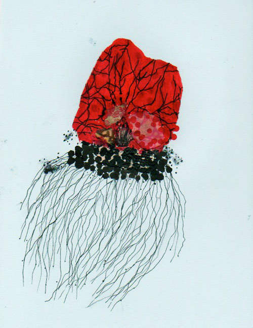 Artist Jenny Brown drawings collages