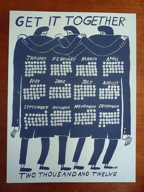 2012 Calendar by artist illustrator Nathaniel Russell