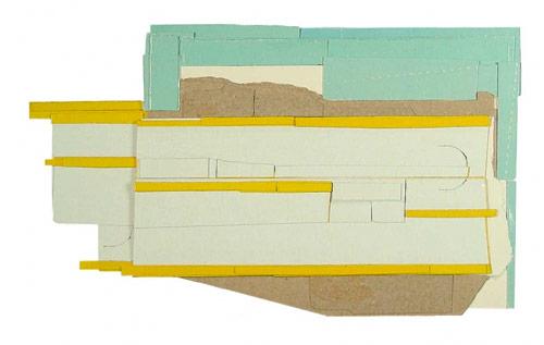 Cardboard Collages by artist Ryan Sarah Murphy