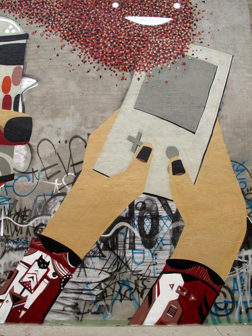 RekaOne TwoOne Ghostpatrol Idle Hands Mural