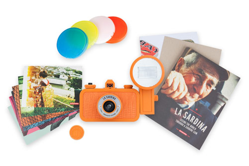 Lomography La Sardina & Flash Orinoco Ochre Camera