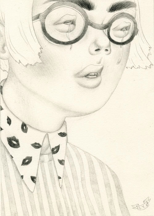 Drawings by artist Sashiko Yuen