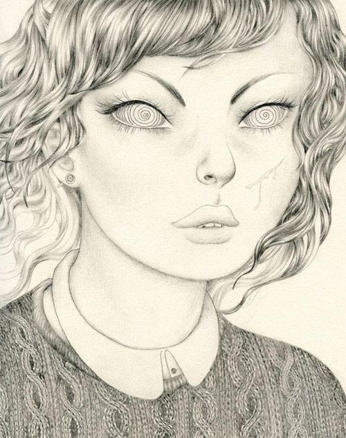 Drawings by artist Sashiko Yuen