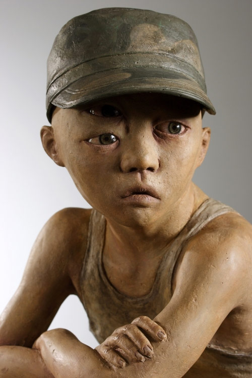 Sculptures by artist Seungchun Lim