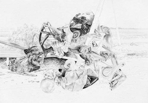 Drawings by artist James Roper