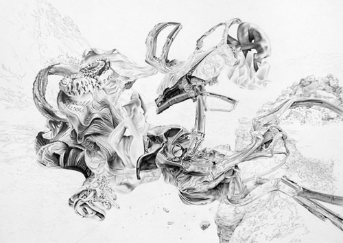 Drawings by artist James Roper