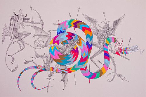 Drawings by artist Jesse Balmer
