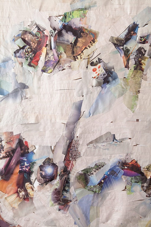 Collage six months new york times by artist Selena Kimball