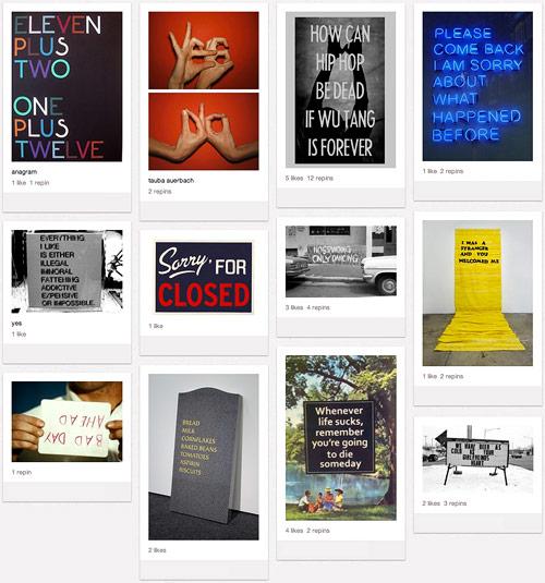 text word art on Pinterest