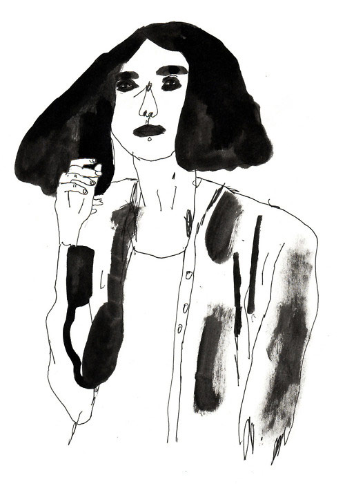 Drawings by artist illustrator Klara Persson