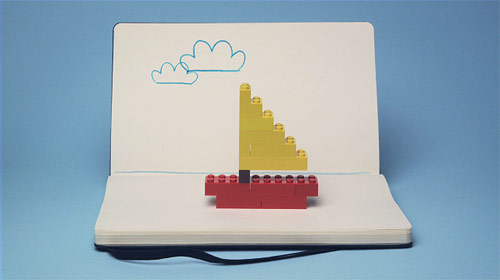 Moleskine - Lego Pitch by animation Lucas Zanotto
