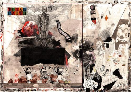 Drawings by artist Nathan Menglesis