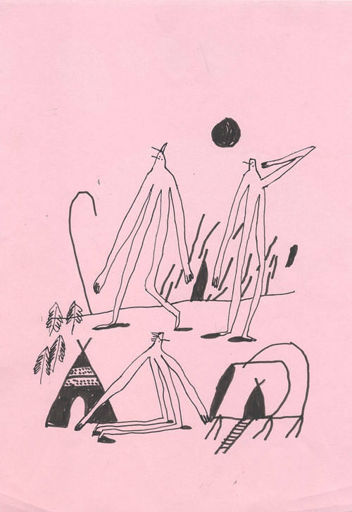 Drawings by artist Quentin Chambry