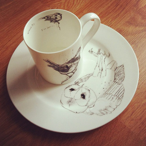 Elli Popp Cup and Saucer Giveaway drawings by Edwyn Collins
