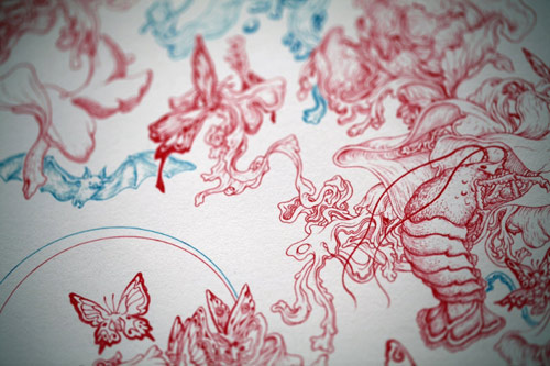 Drawings and paintings by artist James Jean