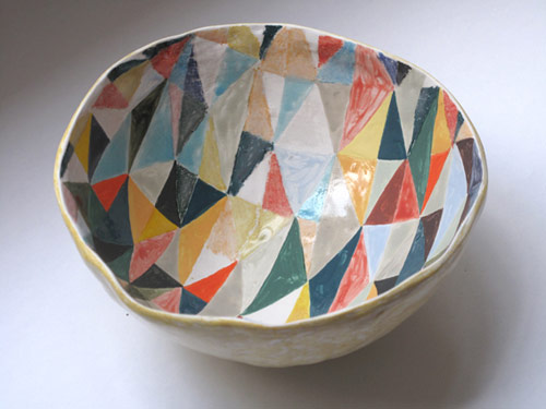 Ceramics by illustrator Laura Carlin