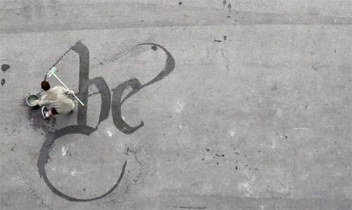 Sweeping Beauty typography by Niels Shoe Meulman