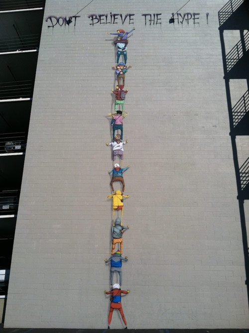 Os Gemeos on the streets of San Diego