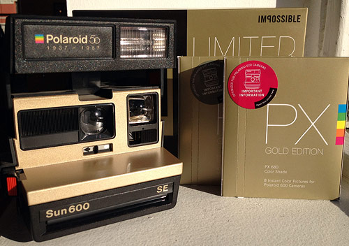 The Impossible Project / Polaroid Sun 600 camera Giveaway