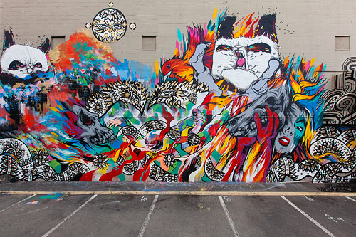 POW WOW MURALS / WILL BARRAS / MR JAGO / PEAP TARR / MEGGS / ANGRY WOEBOTS