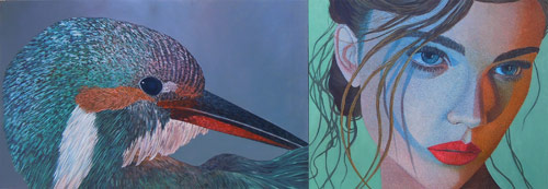 Conscience of Quills new paintings by artist painter Kevin Chupik
